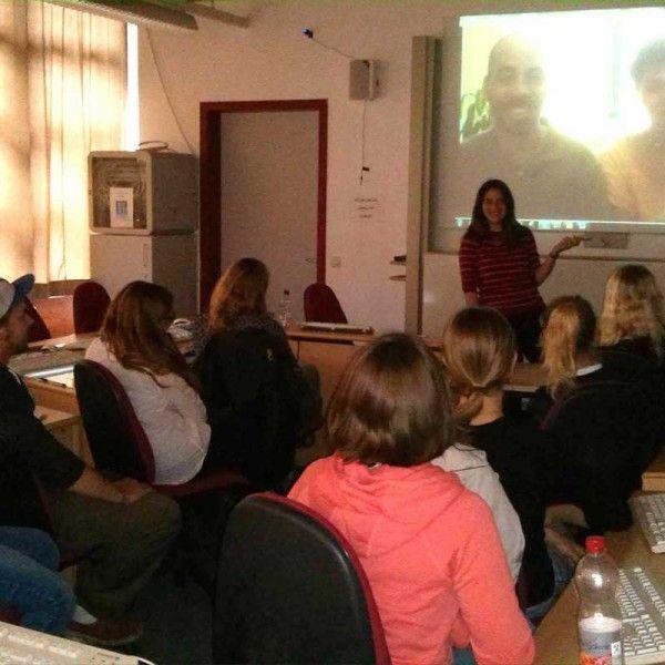 Videoconferencia en la universidad Alemana de Frankfurt